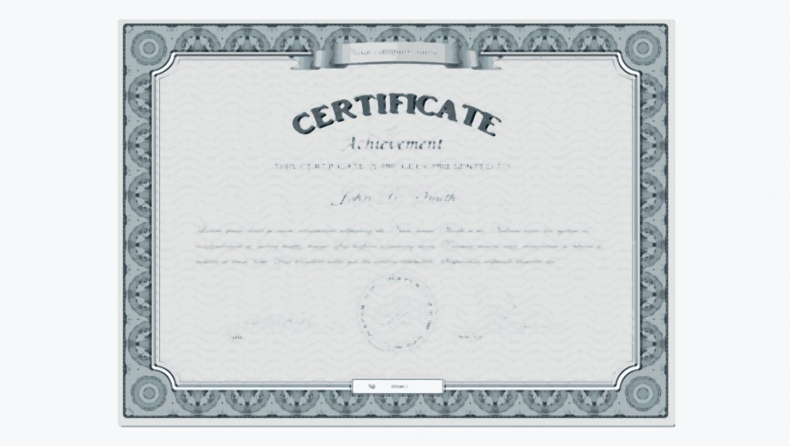 Smith's Certificate